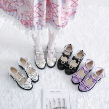 Japanese Lolita Retro Small Shoes Spring and Autumn Female Harajuku Thick Bottom Wild Mary Jane Shoes Female Soft Sister Lolita
