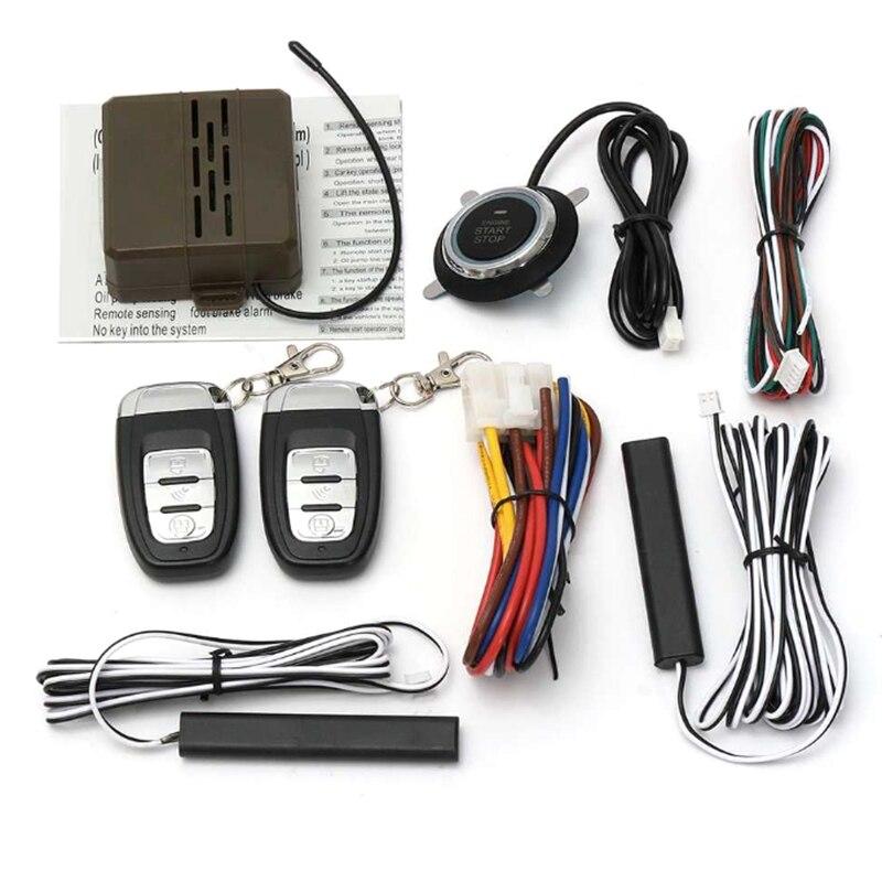 Auto Car Alarm Car Engine Push Start Button Rfid Lock Ignition Starter Keyless Entry Start Stop Immobilizer Anti Theft System|Burglar Alarm| |  - title=