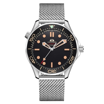 Automatic Self Wind Mechanical Net Stainless Steel Nylon Strap Luxury Men New Limited Watch 1