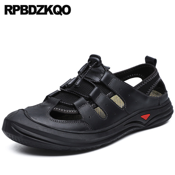 outdoor large size black 2019 shoes native 46 waterproof casual men sandals leather summer fashion breathable water beach brown