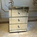 Прижимная панана зеркальный прикроватный шкаф/прикроватный столик/комод 2/3 ящиков мебель для спальни Быстрая доставка