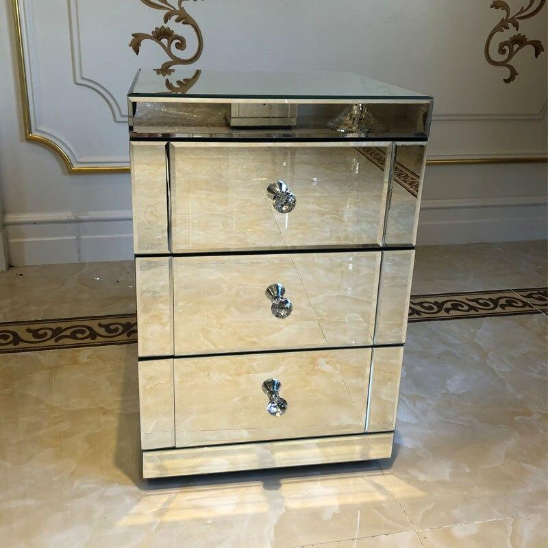 Pré-venda panana espelhada cabeceira armário/mesa de cabeceira/caixa de 2/3 gavetas quarto móveis entrega rápida