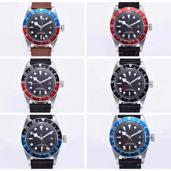 Luxury top Brand Watch 41MM Corgeut Mechanical men Watch sapphire GMT Men Automatic Military Sport calendar Clock Leather - DISCOUNT ITEM  49% OFF All Category