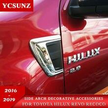 ABS cromo accesorios embellecedor decorativo arco Hood para Toyota Hilux Revo Rocco 2016, 2017, 2018, 2019, 2020 SR5