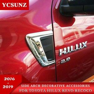 ABS Chrome Accessories Decorative Trim Arch Hood For Toyota Hilux Revo Rocco 2016 2017 2018 2019 2020 SR5