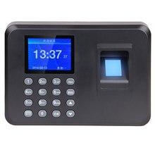 Office Intelligent Password Attendance Machine Biometric Fingerprint Employee Checking-in Recorder DC 5V Time Attendance Clock