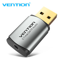 Vention USB Kartu Suara Eksternal USB Antarmuka Audio Sound Card Adaptor 3.5 Mm untuk Laptop PS4 Headset Suara Kartu USB(China)