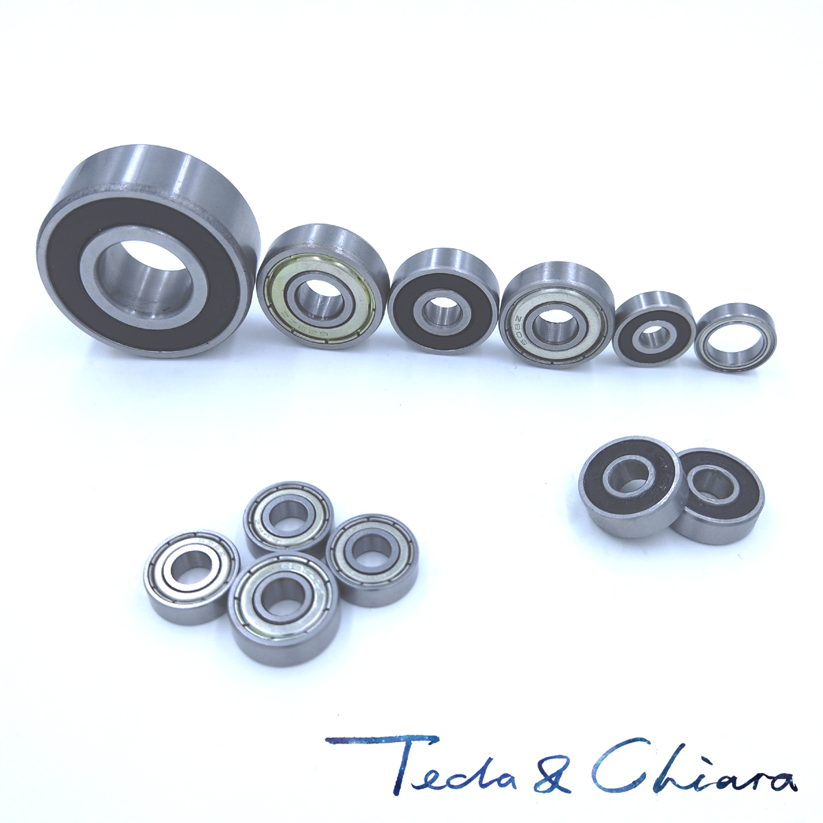 10Pcs 6201-RS Double Rubber Sealed Shielded Miniature Bearing Steel Deep Groove Ball Bearing 12mm