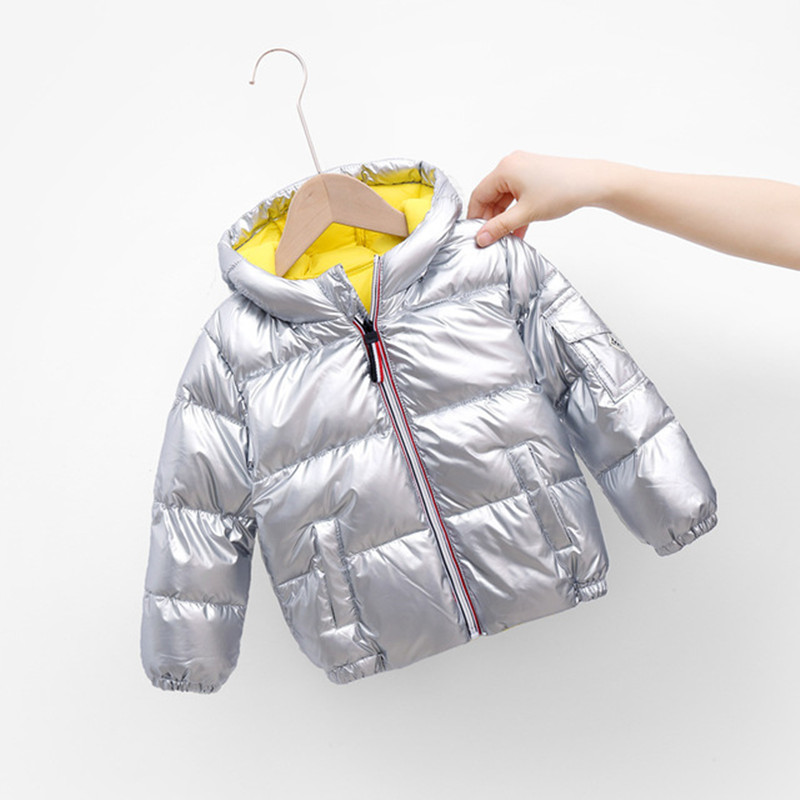 Boys Girls Jackets Hooded Outerwear Winter Children Warm Thick Jacket For Kids Clothes Baby Outerwear Zipper Coats Ski Jacket 3