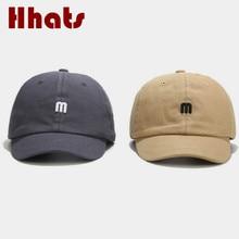 Embroidery Short Brim Snapback Baseball Hat Cotton Curved Men Hat