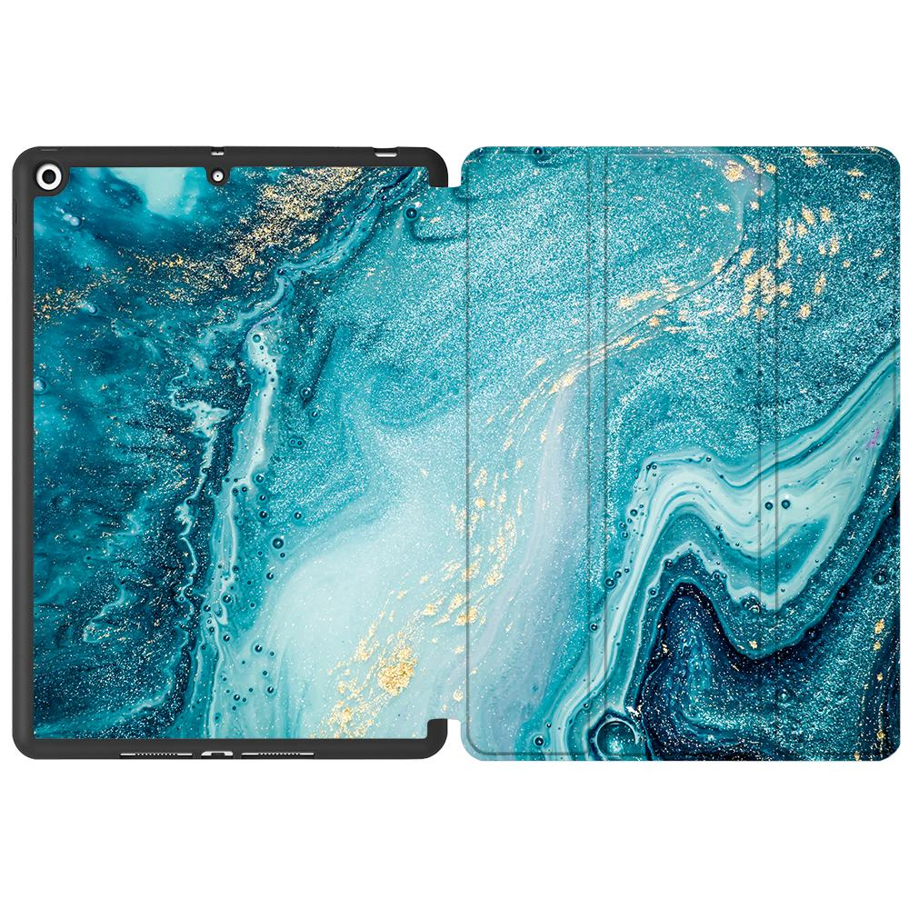 inch MTT TPU Case Back PU Leather 8th 7th For 10.2 Flip Marble iPad Smart Soft Gen Stand