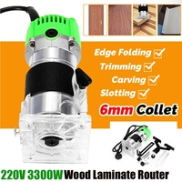3300W 30000rpm Woodworking Electric Trimmer Wood Router Wood Milling Slotting Trimming Engraving Machine Hand Carving Machine