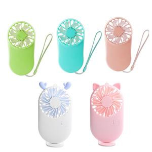 2020 New Usb Mini Fans Portable Air Cooler Electric Handheld Rechargable Cute Small Cooling Fans Student Home Travel Outdoor