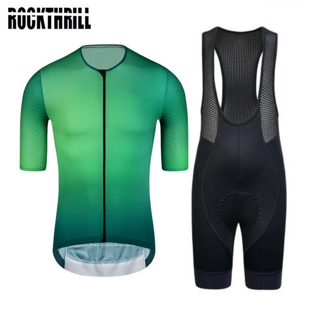 Conjunto de roupas para ciclismo pro team, kit de roupas curtas de ciclismo com almofada em gel de alta densidade para mtb e road ternos verão 2020 1