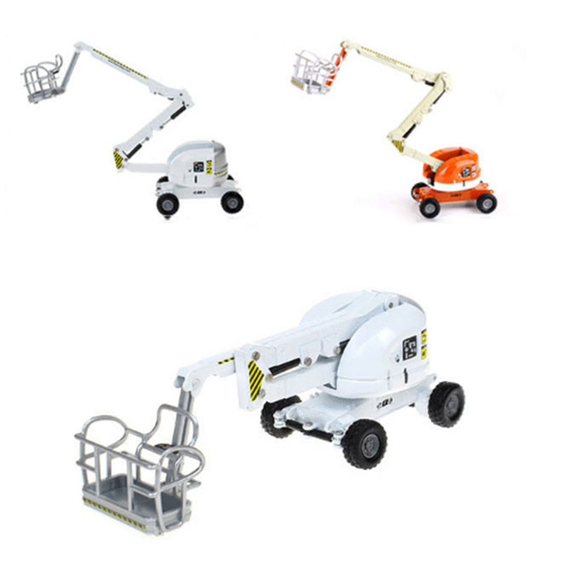 Bulk Aerial Work Truck 1/87 Scale Folding Boost Alloy Die-casting Engineering Car Model Children's Toy Gift Indoor Display