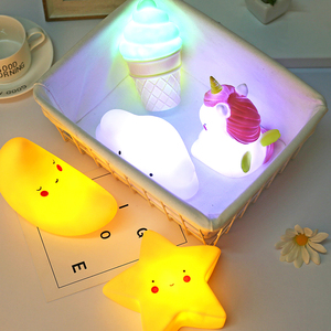 2019 Cute Smiley Clouds Stars Moon Appease Glow Night Light Feeding Light Baby Sleeping Toy Kids Christmas Gifts for New Year