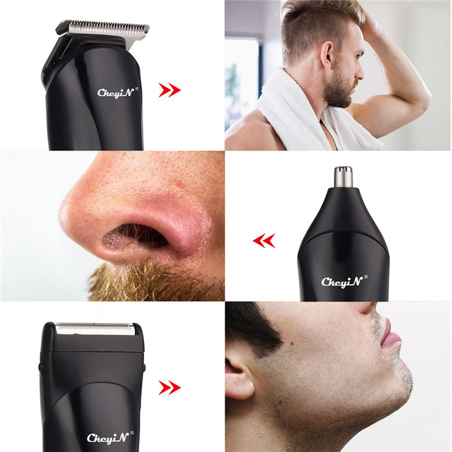3 In 1 Hair Clipper Electric Cordless Nose Ear Beard Trimmer Professional Rechargeable Shaver Hair Cutter Remover Machine 47 2