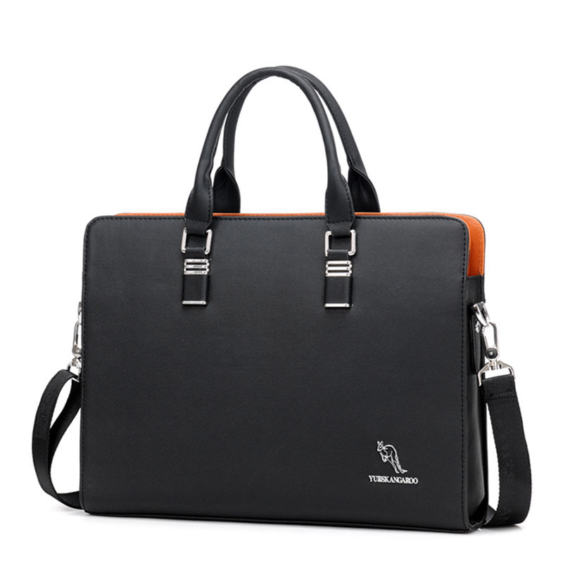Men's Business Laptop Bags Leather Laptop Briefcase Bag Office Bags For Men Computer Lawyer Messenger Bag Male Shoulder Tote Bag