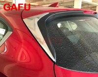 Para MAZDA CX-5 CX5 ABS cromo ventana trasera alerón cubierta lateral moldura triangular accesorios de coche 2017 2018 2019 2020