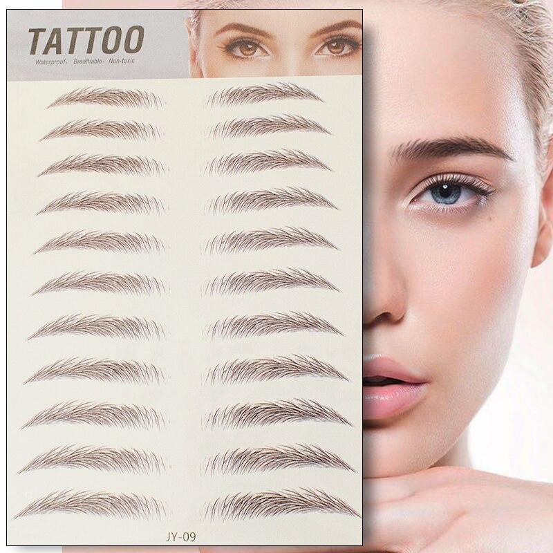6D Eyebrow Sticker Bionic Tattoo Semi-Permanent Water Transfer Waterproof Embroidery Eyebrow Tattoo Sticker Makeup Supplies 2