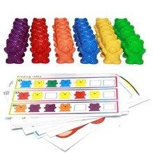 12 шт./лот 6 цветов счетные медведи Монтессори Развивающие игрушки для детей ясельного возраста Сортировка цвета математические Обучающие инструменты детские игрушки