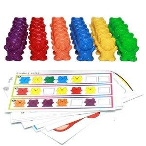 Image 1 - Montessori Lote de 12 unidades de osos de conteo de 6 colores, juguetes educativos para niños pequeños, clasificación de color, herramientas de aprendizaje de matemáticas