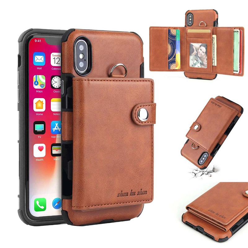 Hcf2d9a627ef3425b8ed7428a61d2b1ecK Tikitaka Wallet Leather Phone Case For iPhone 6 6s Plus X XS XR Multifunction Card Slots Flip Cover For iPhone XS MAX 8 8 Plus