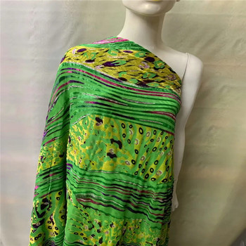 African silk Burnt-out flannel velvet fabric perspective silk fabric for dress clothing silk velvet fabric silk cloth LXE042505