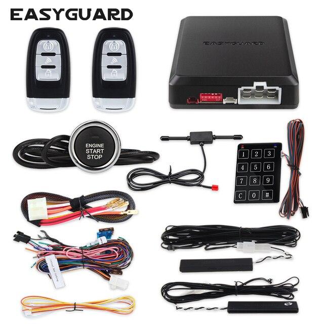 Easyguard Pke Báo Động Xe Bộ Với Động Cơ Từ Xa Bắt Đầu Đẩy Nút Bắt Đầu Lăn Mã Cảm Ứng Mật Khẩu Móc Treo Chìa Khóa Báo Động An Ninh
