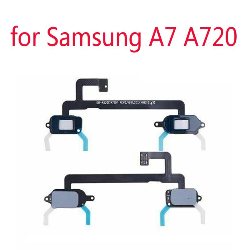 Menu Return Sensor Touch Light For Samsung A7 2017 A720 A720F A720S Original Phone Housing Button Key Ribbon Flex Cable