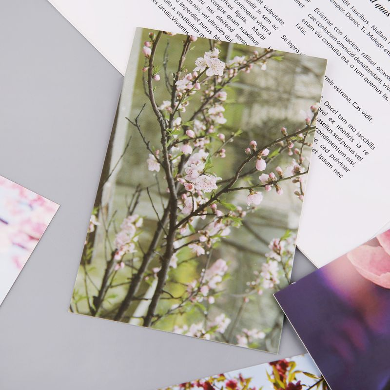 30 Sheets Peach Blossom Paintings Retro Vintage Postcard Christmas Gift Card Wish Poster Cards LX9A