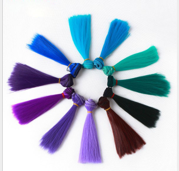 5pcs/lot  15cmx100cm BJD doll wig hair straight wigs hair--21colors option 2