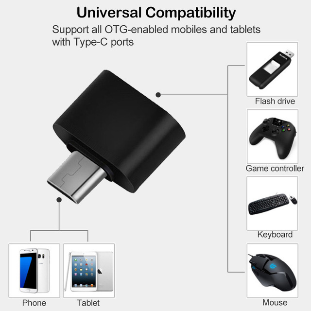 2Pcs USB-C OTG Adapter for Xiaomi Redmi Note 9S 9 8 8T 7 Pro Max USB Type C OTG Connector for Redmi 8 8A K20 K30 Pro 5G