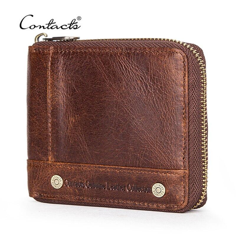 Luxury gift Handmade portfolio Vintage leather brown purse Folding billfold Small wallet Vintage leather folder