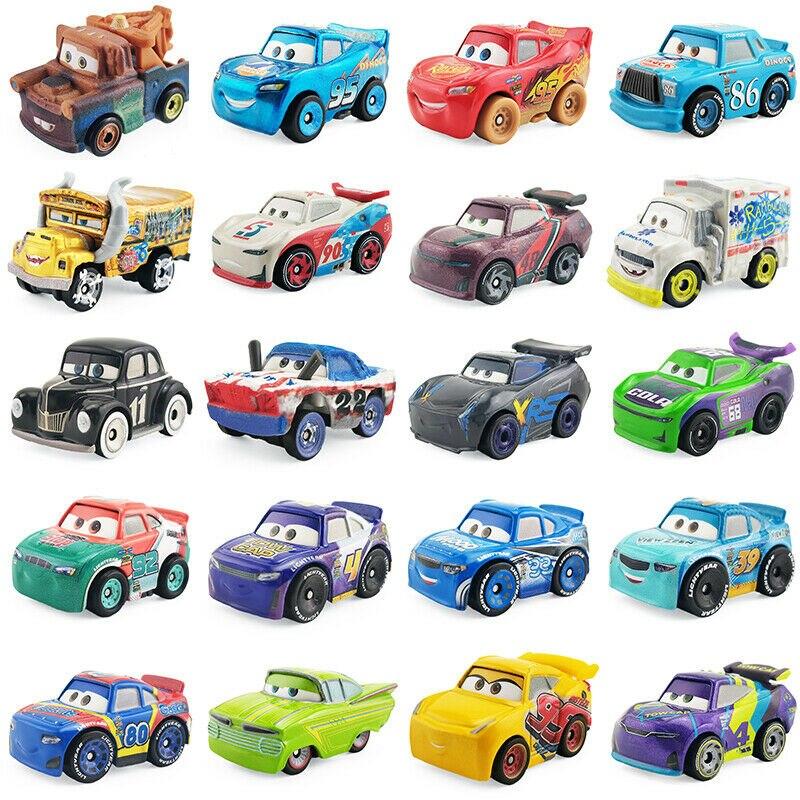 24 стиля Дисней Pixar тачки 3 мини Маккуин высокое качество литые игрушки модели персонажей из мультфильмов дети день рождения Рождественский ...