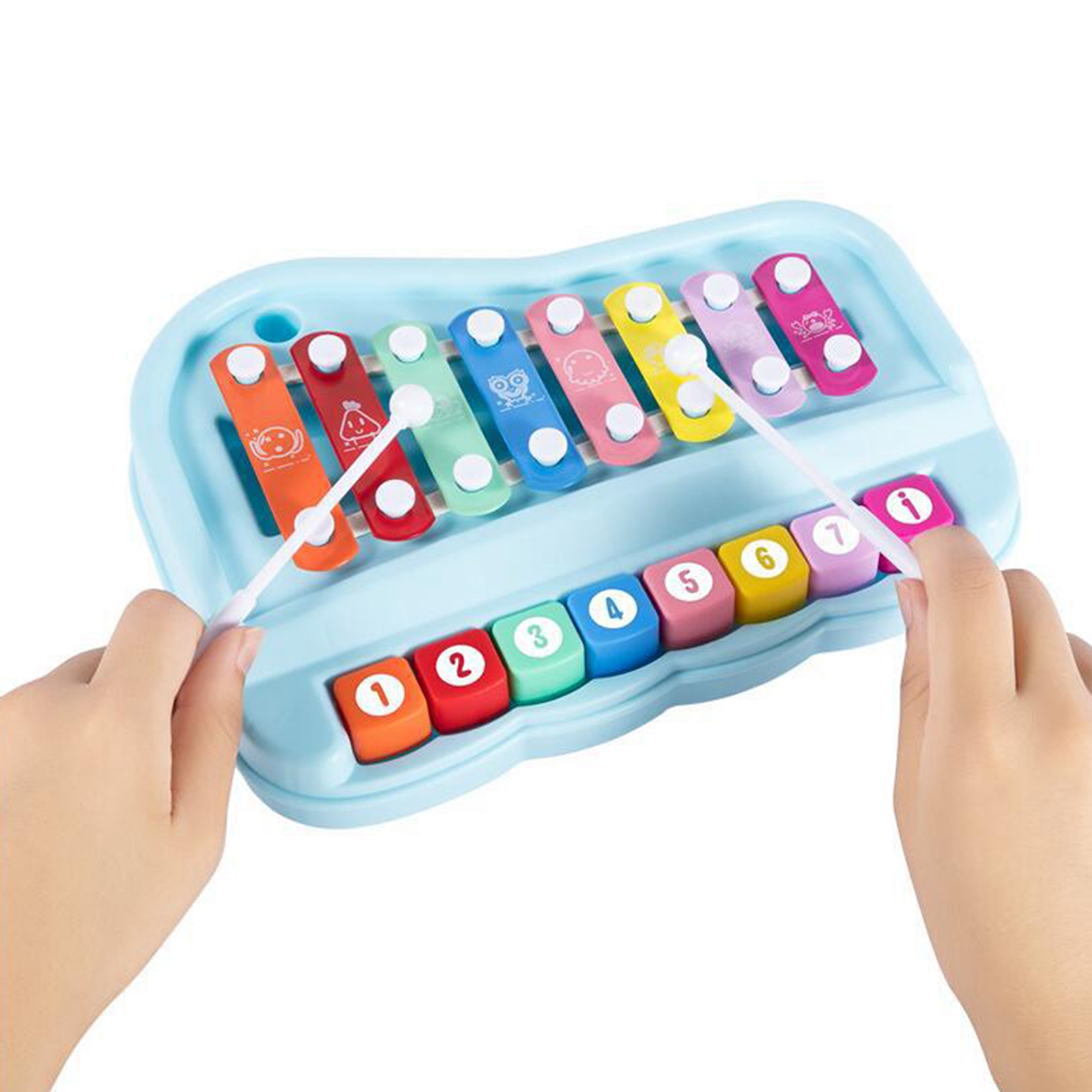 Детский игрушечный пианино с 8 весами, аксессуар для раннего развития музыкальных инструментов