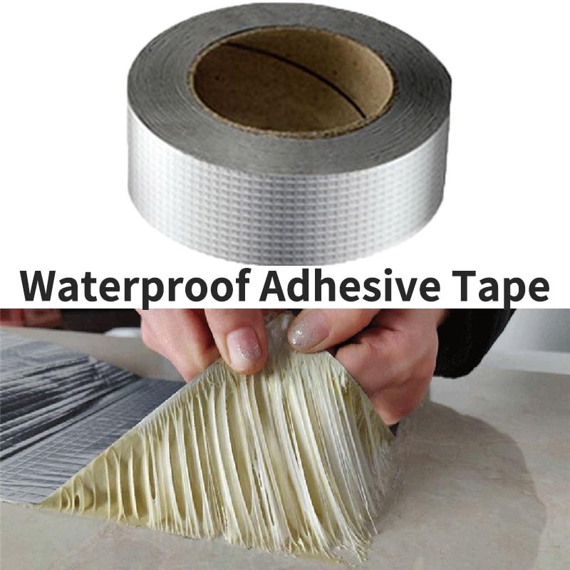 3m Aluminum Foil Adhesive Tape Waterproof Duct Tape Super Repair Crack Thicken Butyl Waterproof Tape Home Renovation Tools
