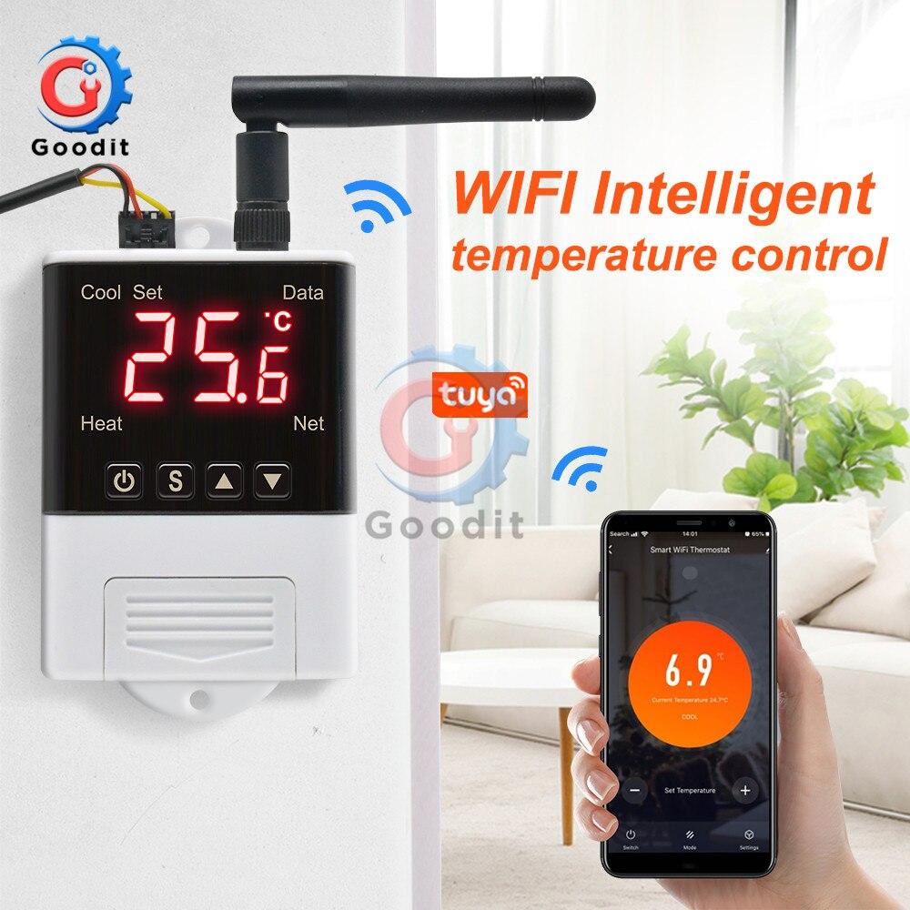 DTC2201 AC110V-220V термостат NTC Сенсор цифровой Дисплей Wi-Fi Температура контроллер электронной цифровой терморегулятор
