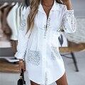 Brief Drucken Fashion Bluse Langarm V-ausschnitt Lose Party Kleid Elegante Mode Drucken Tops Bluse Plus Größe