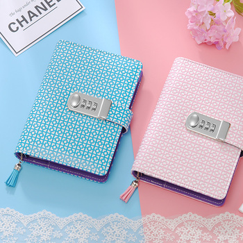 A6 Planner Diary With Lock Ring Binder Spiral Notebooks And Journals Password Agenda Office Stationery Note book School Supplies