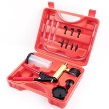 Manual Brake Fluid Bleeder Tool with Tool Box Kit DIY Vacuum Pistol Pump Pressure Tester Aluminium Body Pressure Gauge