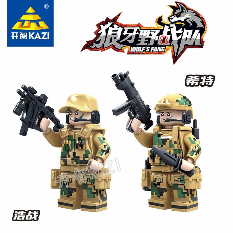 KAZI 82013-82014 bloques de construcción de las fuerzas de operaciones de campo de pico soldados especiales militares Aberdeen Toy Boy