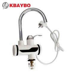 3000W enchufe de la UE calentador de agua eléctrico de cocina calentador instantáneo de inmersión caliente frío doble uso A-0668