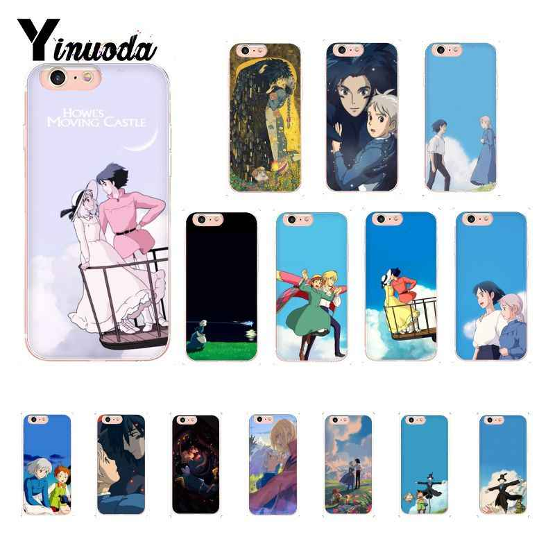 Yinuoda Cartoon Studio Ghibli Howl 'S Moving Castle Klant Telefoon Case Cover Voor Iphone 8 7 6 6S Plus X Xs Max 5 5S Se Xr 10