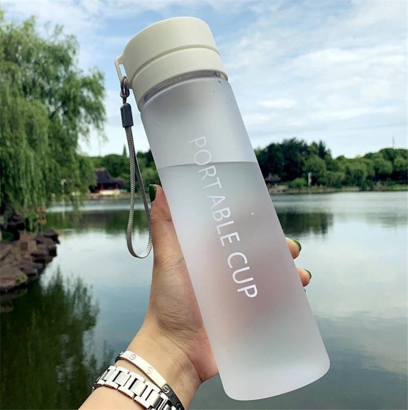 600/800ML BPA Free Leak Proof Water Bottle Portable Sports Climbing Hiking  Direct Drinking Bottle
