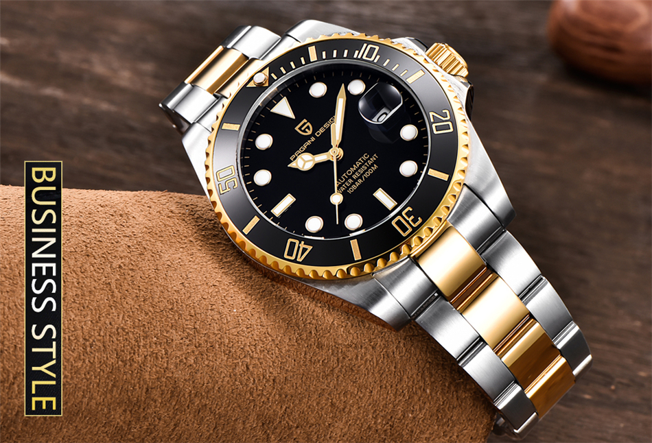 Hcf2ec61d55264c00acb4b95e1e828c2bX PAGANI2019 Design Brand Luxury Men Watches Automatic Black Watch Men Stainless Steel Waterproof Business Sport Mechanical