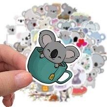50 pçs dos desenhos animados bonito koala doodle adesivos conjunto para computador portátil skate impermeável pvc papelaria adesivos decorativos para o presente das crianças
