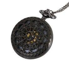 Винтажные бронзовые полые кварцевые карманные часы ожерелье, подвеска, цепочка Wo Мужские часы Подарки кошмар до Рождества warcraft* A