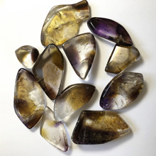 natural ametrine high quality crystal 50g gravel tumbles crushed stone decor wicca amethyst