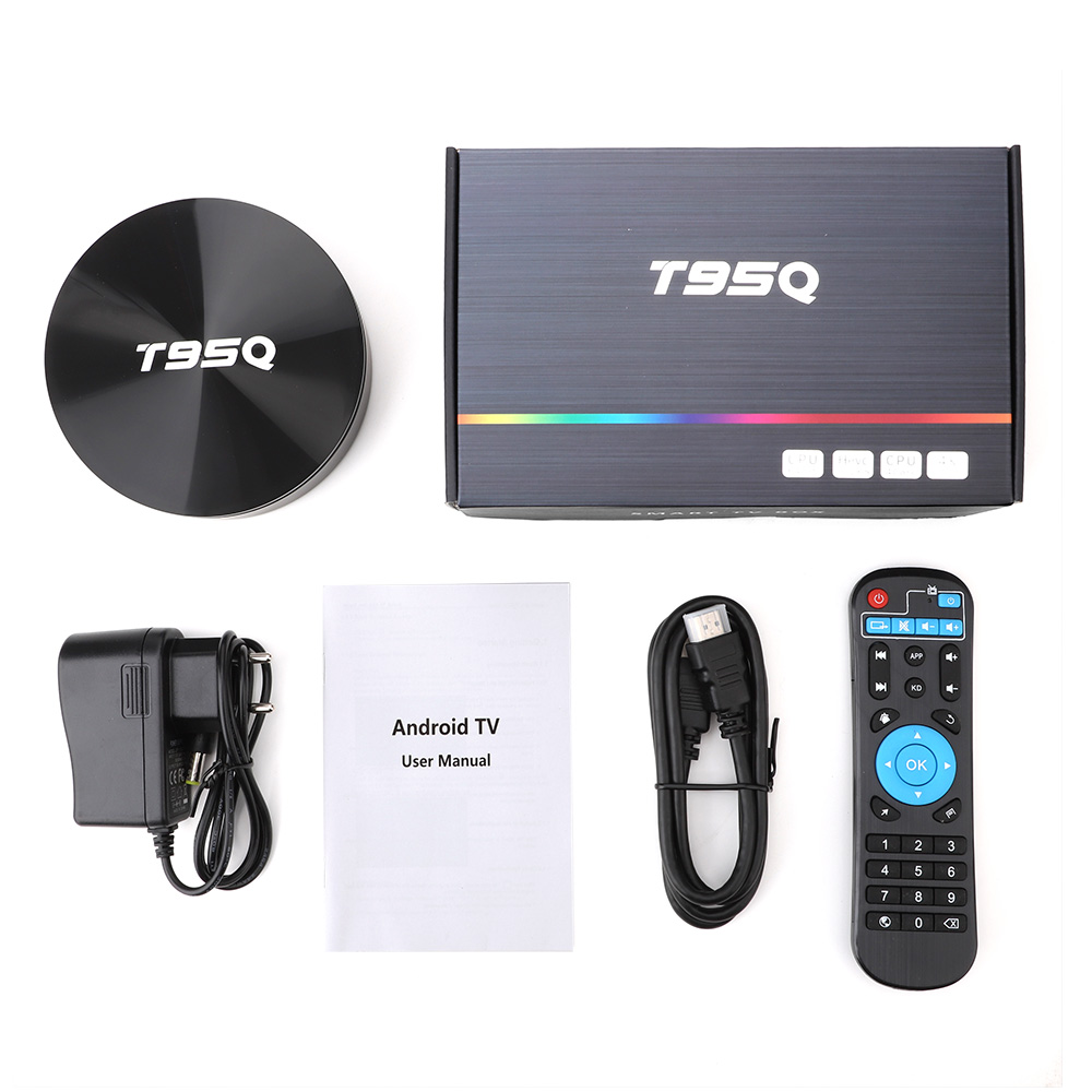 T95Q 4GB 64GB Android 9.0 TV Box DDR3 Amlogic S905X2 Quad Core 2.4G & 5GHz double Wifi BT4.1 100M H.265 4K lecteur multimédia PK X96 tvbox - 6